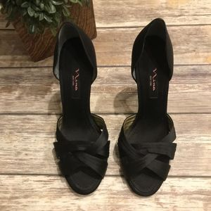 "Nina New York Black Sandal 10M 4"" heels"